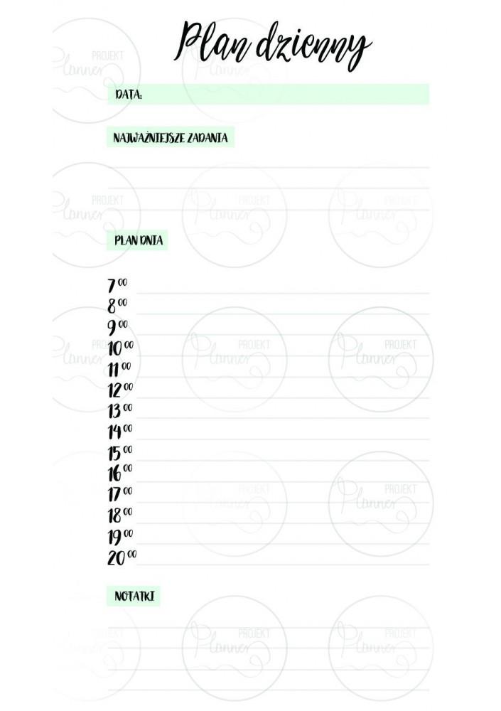 WKŁAD ZAPASOWY – PLANNER DZIENNY (A6)