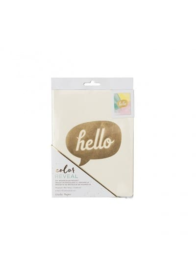 WATERCOLOR NOTEBOOK - CP - COLOR REVEAL - 6X8 - HELLO