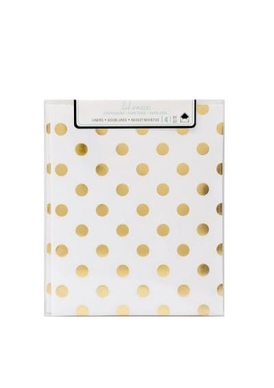Liners - HS - Stationery - A2 - Gold Dot