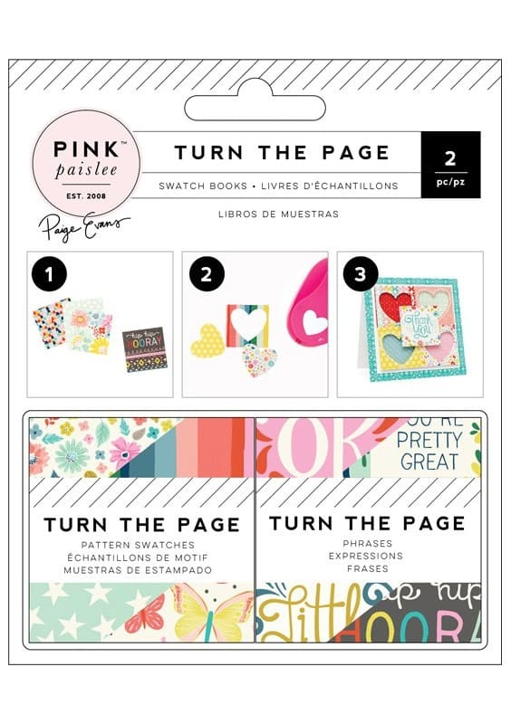 TURN THE PAGE - 2X2 PAPER PAD - SWATCH BOOK - (72 PIECE)