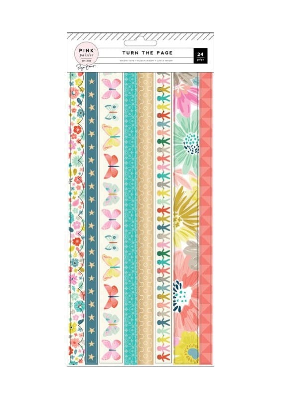 TURN THE PAGE - WASHI BOOKLET - (3 SHEETS)