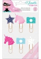 GLITTER GIRL - ICON PAPER CLIPS - GLITTER INFUSED - 6 PIECE)
