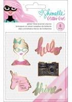 GLITTER GIRL - ENAMEL CHARMS - (5 PIECE)