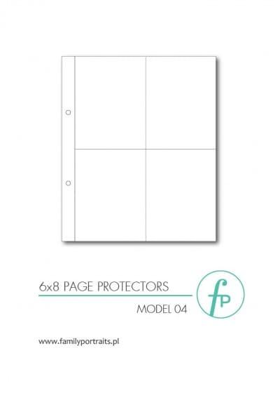 ZESTAW 10 KOSZULEK OCHRONNYCH 6x8  / MODEL 04