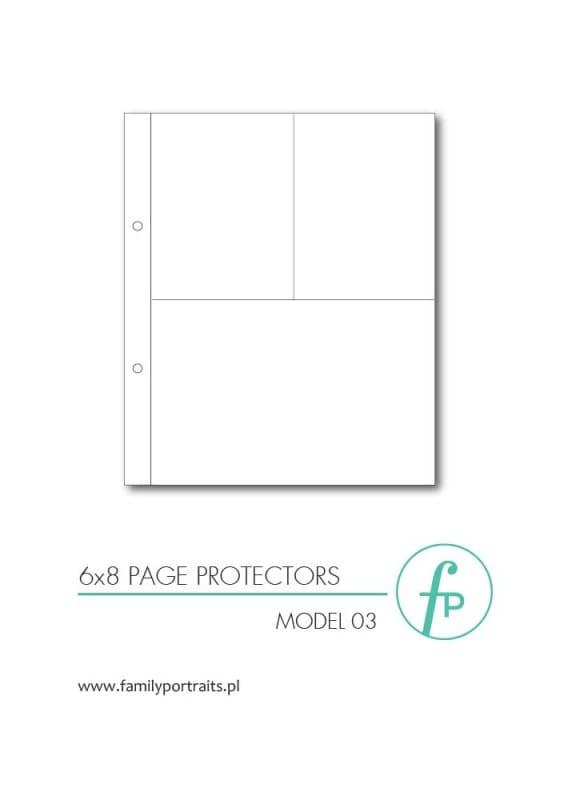 ZESTAW 10 KOSZULEK OCHRONNYCH 6x8 / MODEL 03