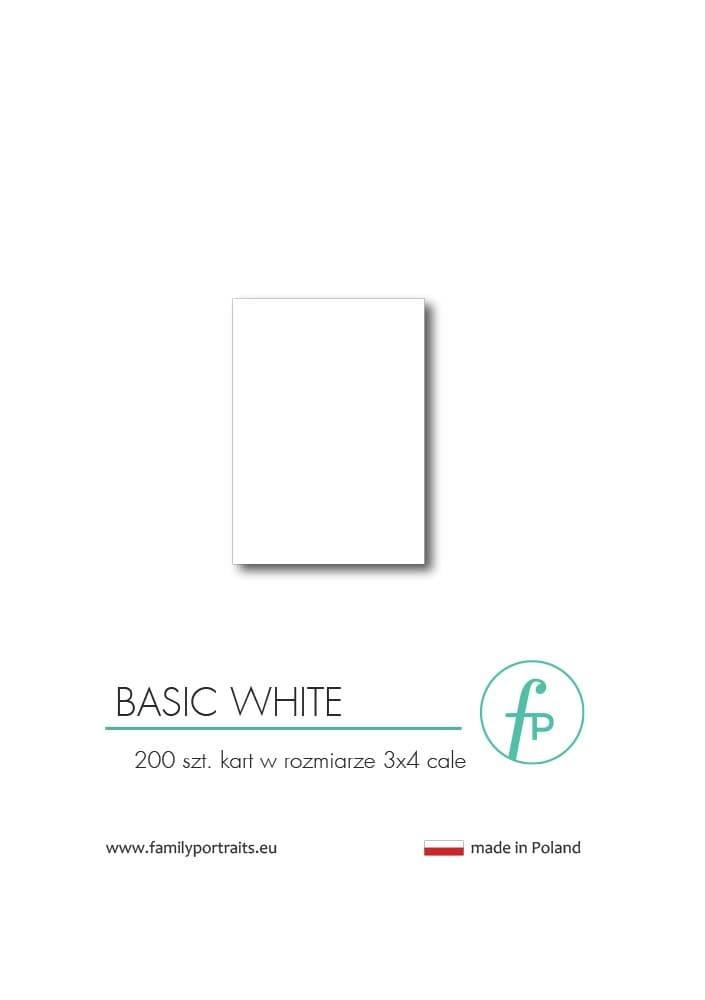 3X4 CARDS / WHITE