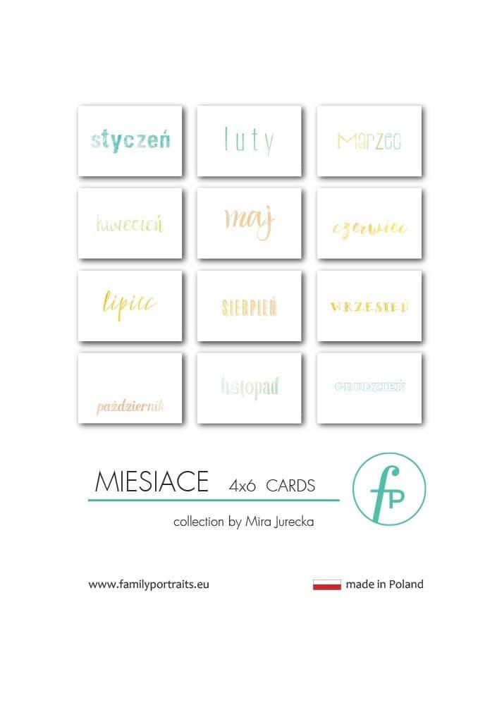 MIESIACE / 4X6 CARDS