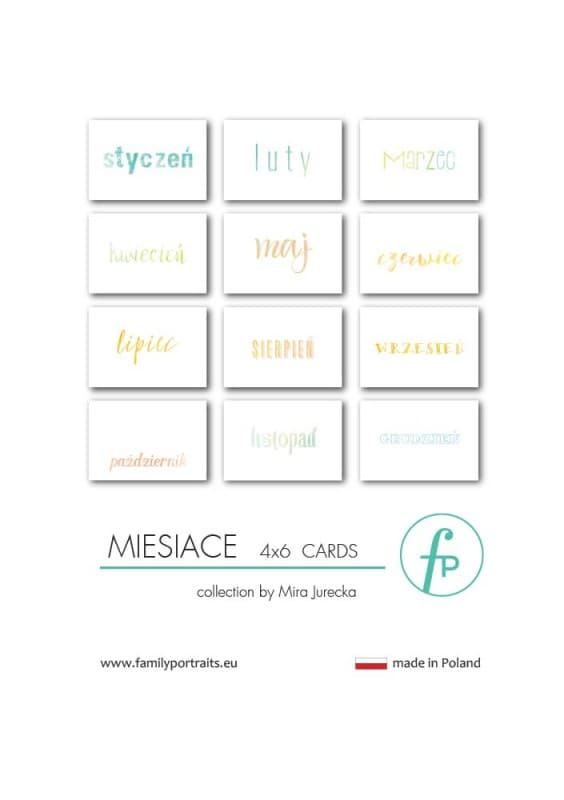 4X6 CARDS / MIESIACE