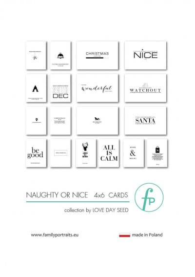 4X6 CARDS / NAUGHTY OR NICE