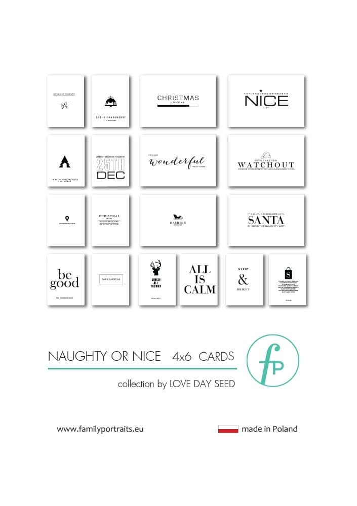 NAUGHTY OR NICE / 4X6 CARDS