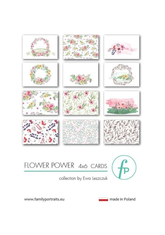 4X6 CARDS / FlOWER POWER