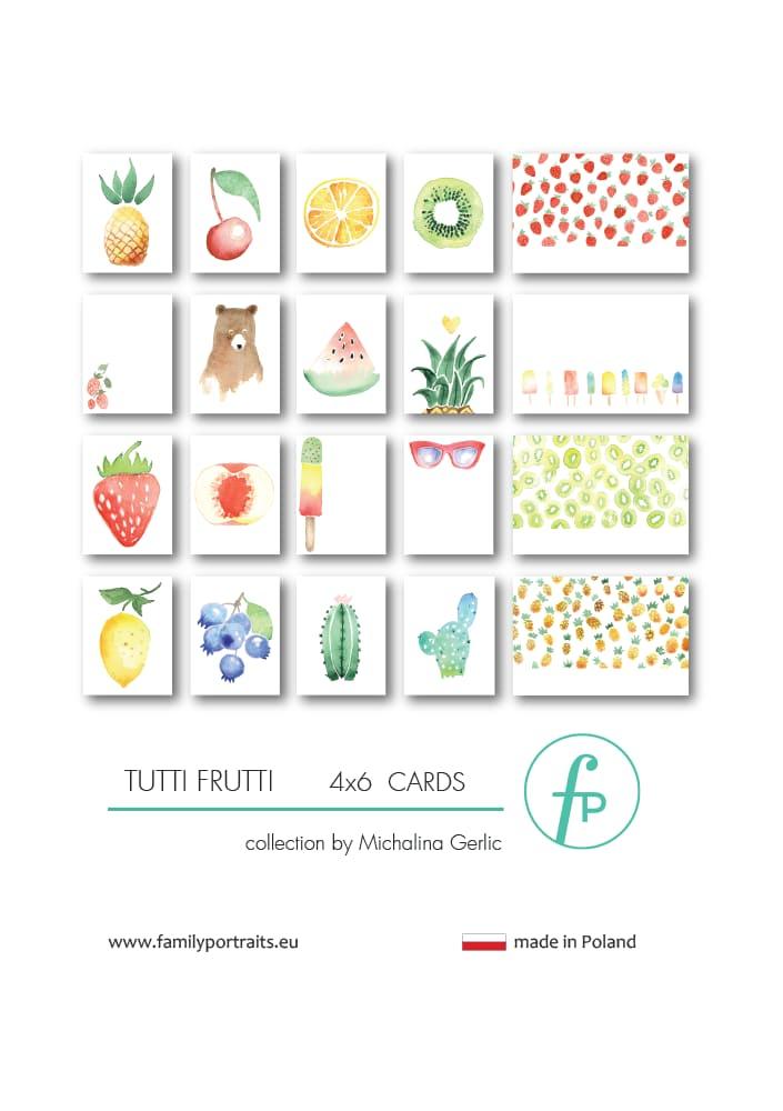 TUTTI FRUTTI / 4X6 CARDS