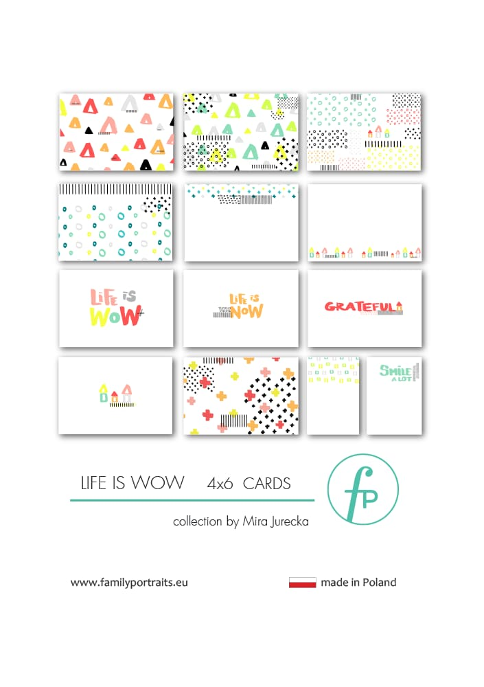 LIFE IS WOW / 4X6 CARDS