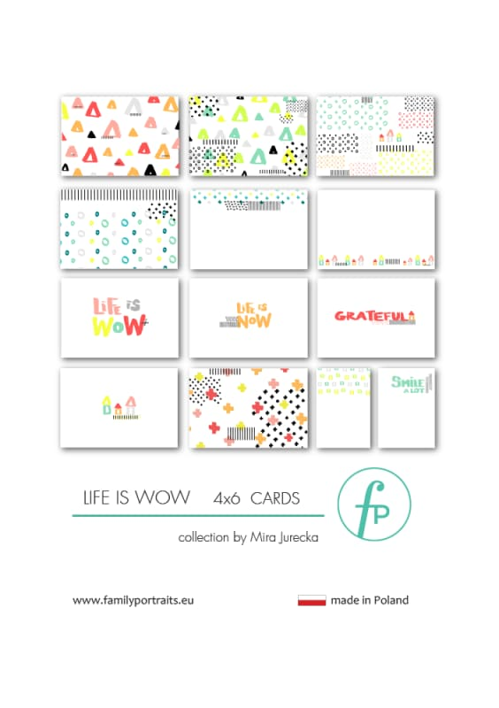 4X6 CARDS / LIFE IS WOW