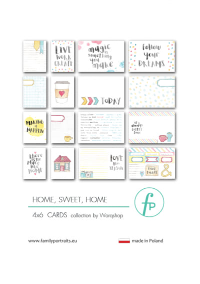 HOME, SWEET HOME / 4X6 CARDS