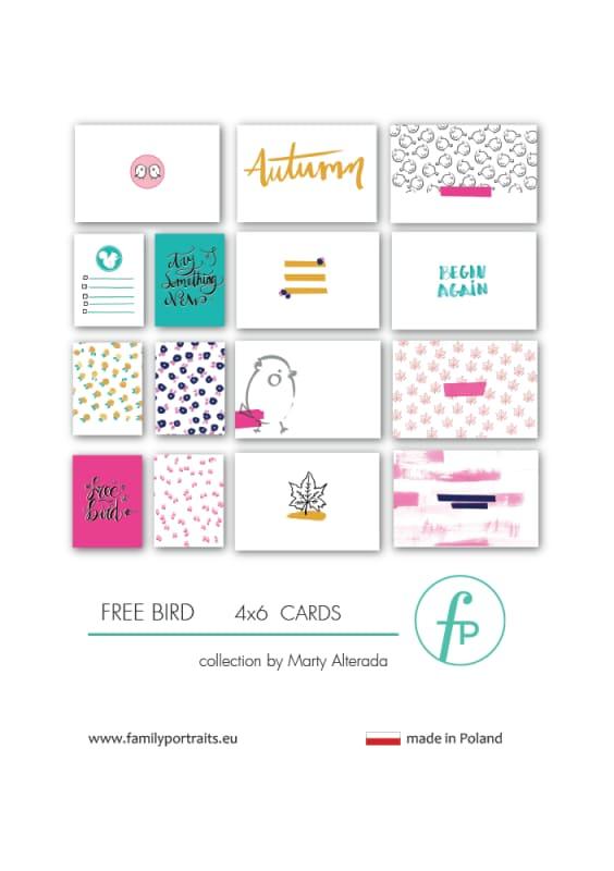 4x6 CARDS / FREE BIRD
