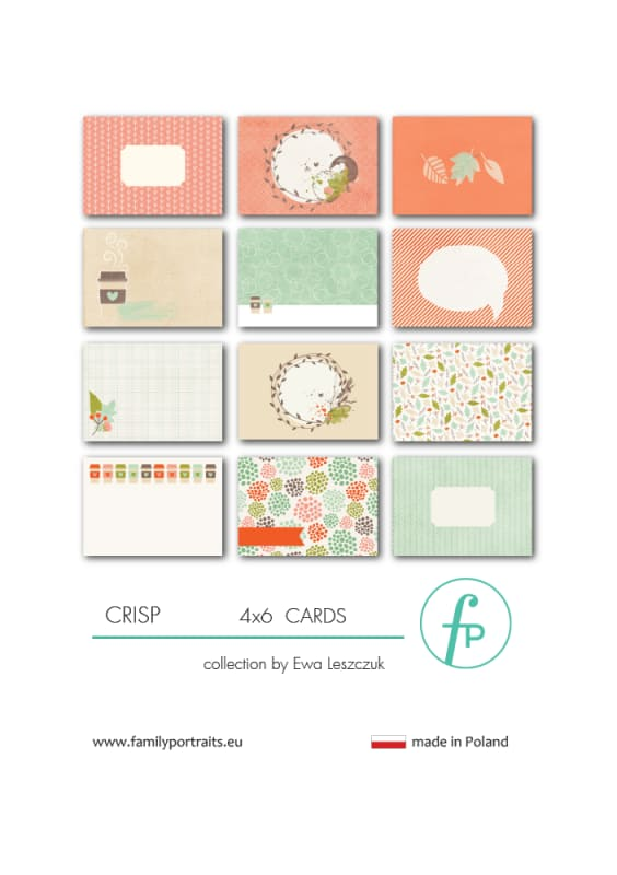 4X6 CARDS / CRISP
