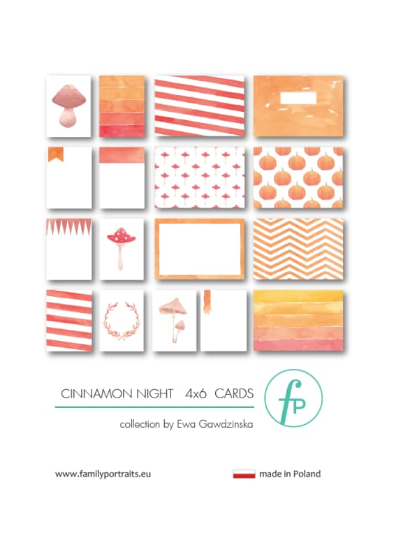 4X6 CARDS / CINNAMON NIGHT