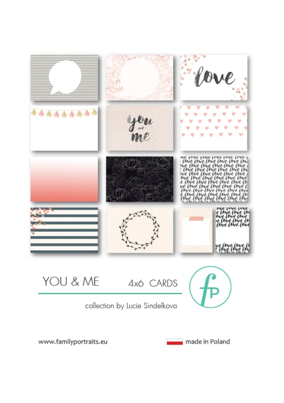 4X6 CARDS / YOU & ME