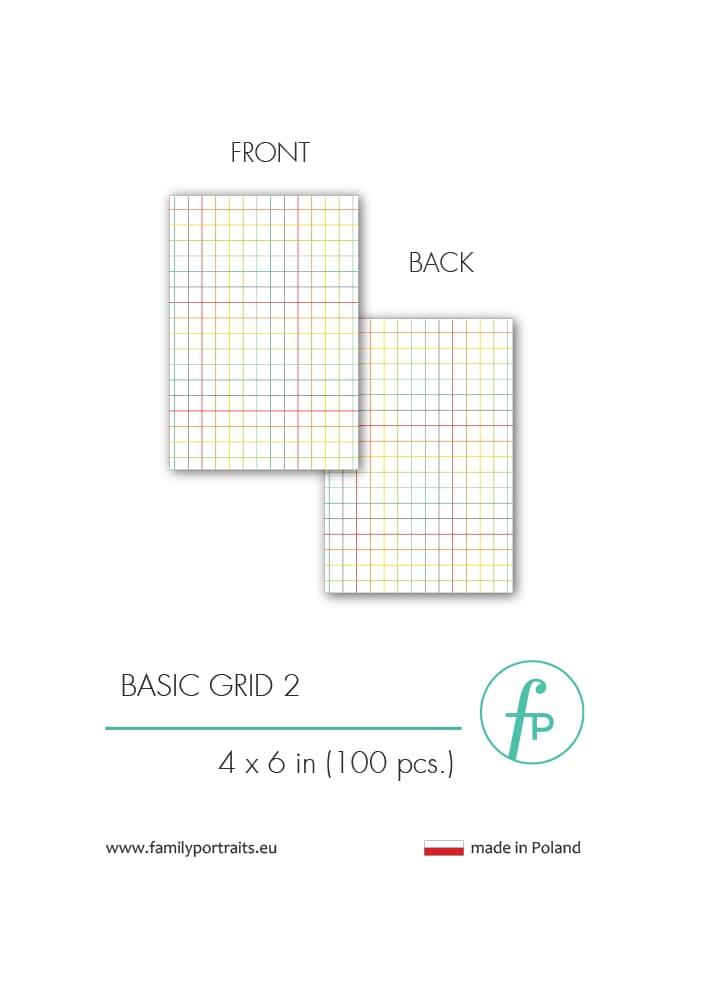BASICS - GRID 2 (100 sztuk) / 4X6 CARDS
