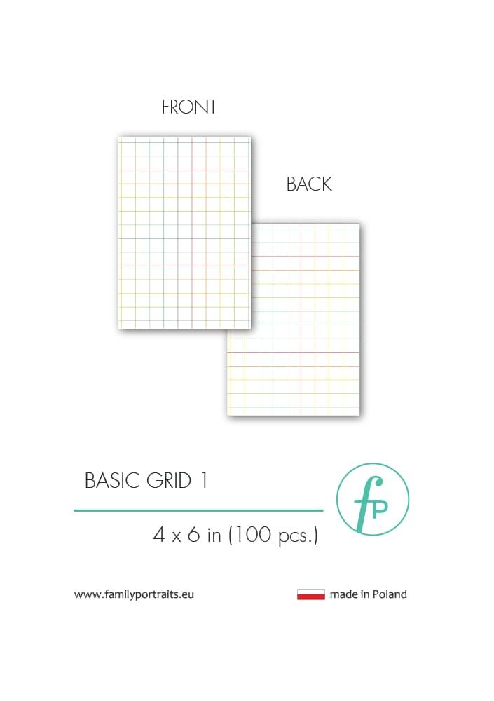 BASICS - GRID 1 (100 sztuk) / 4X6 CARDS