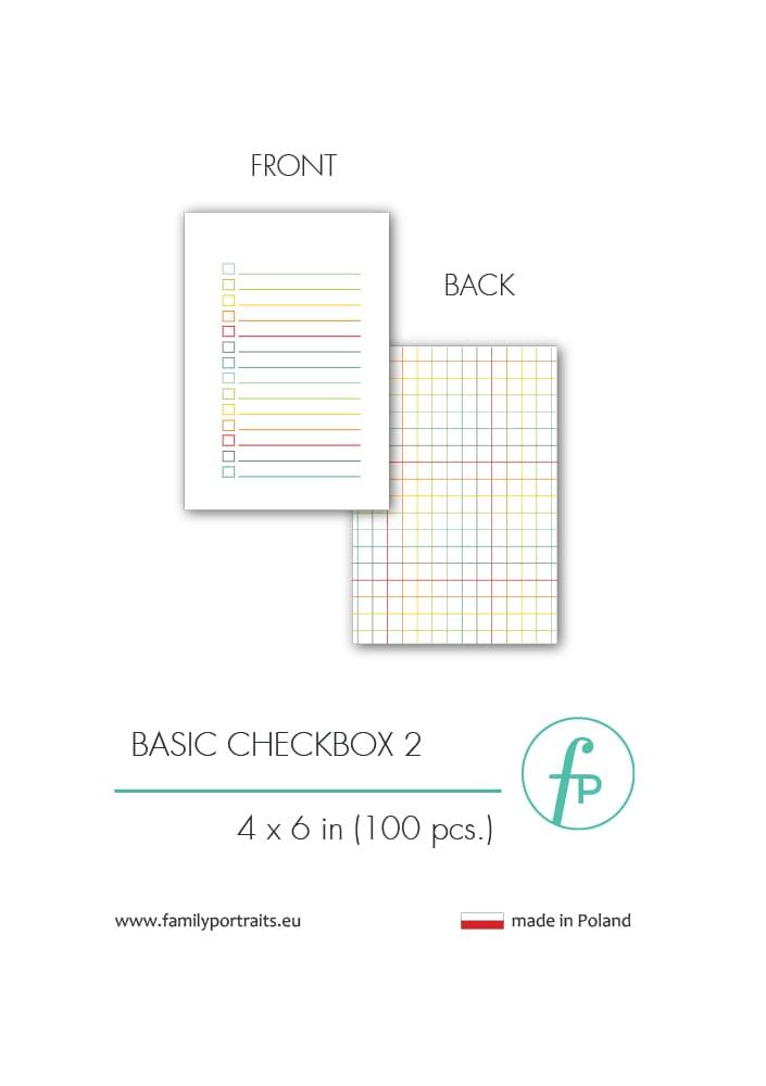 BASICS - CHECKBOX 2 (100 sztuk) / 4X6 CARDS