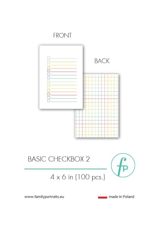 4X6 CARDS / BASICS - CHECKBOX 2 (100 sztuk)