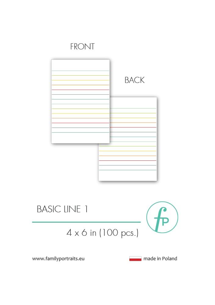 BASICS - LINE 1 (100 sztuk) / 4X6 CARDS
