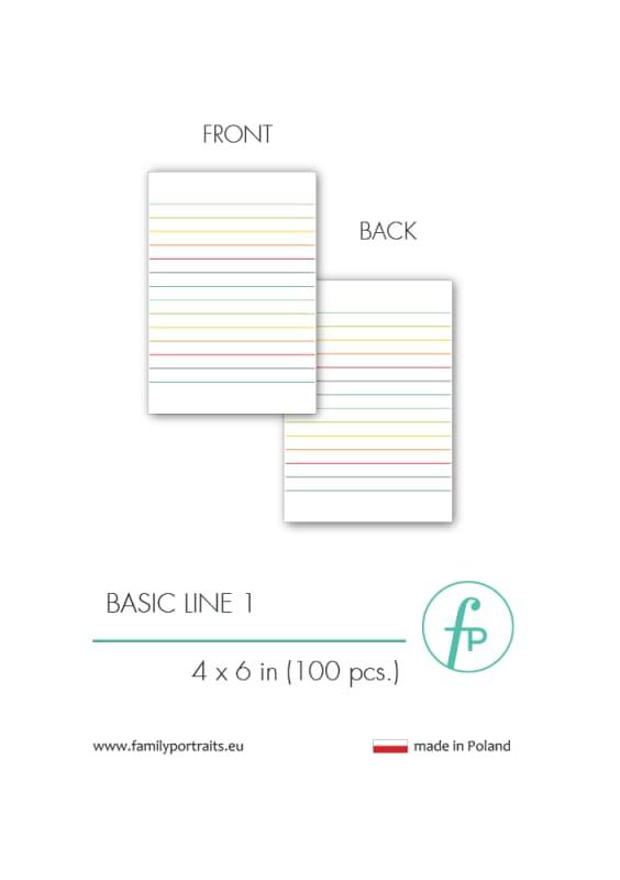 4X6 CARDS / BASICS - LINE 1 (100 sztuk)