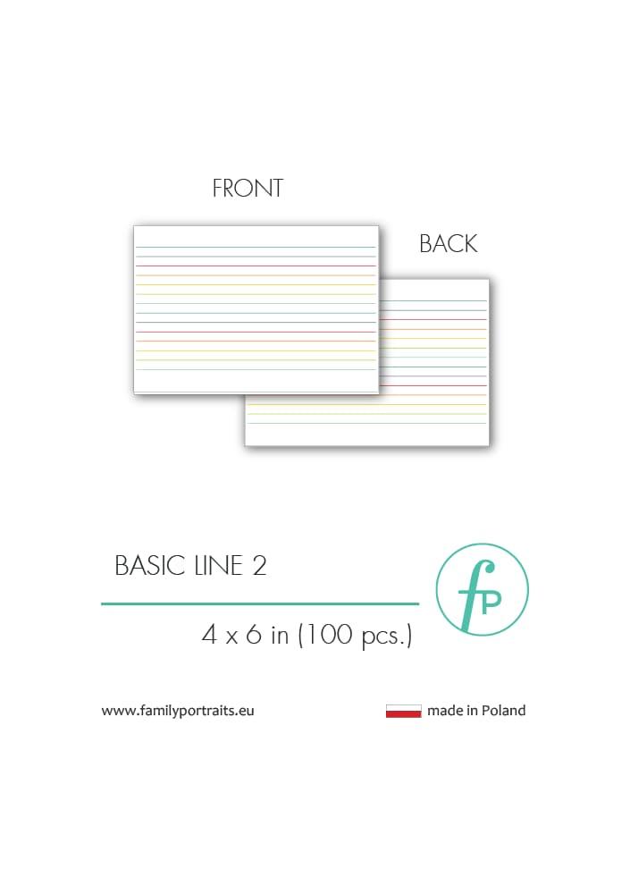BASICS - LINE 2 (100 sztuk) / 4X6 CARDS