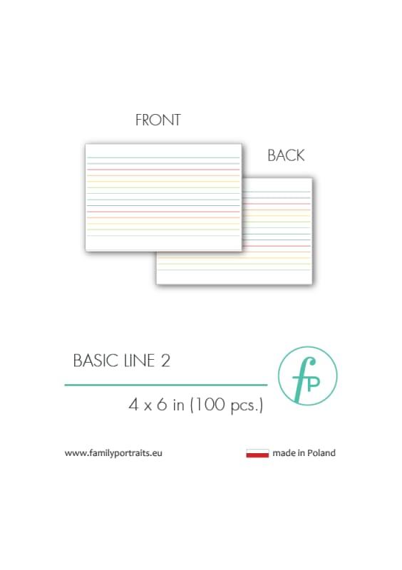 4X6 CARDS / BASICS - LINE 2 (100 sztuk)