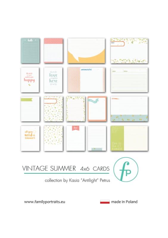 4X6 CARDS / VINTAGE SUMMER