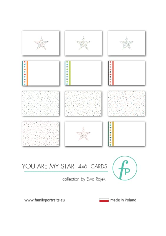 4X6 CARDS / YOU ARE MY STAR