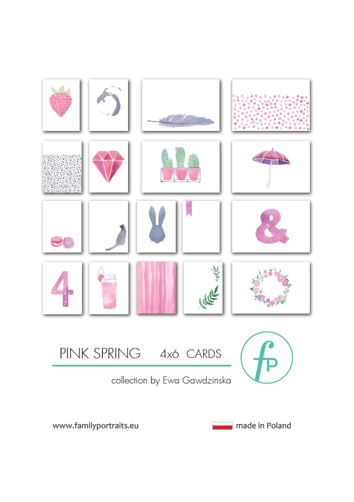 PINK SPRING / 4X6 CARDS