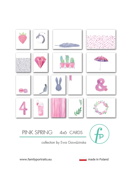 4X6 CARDS / PINK SPRING