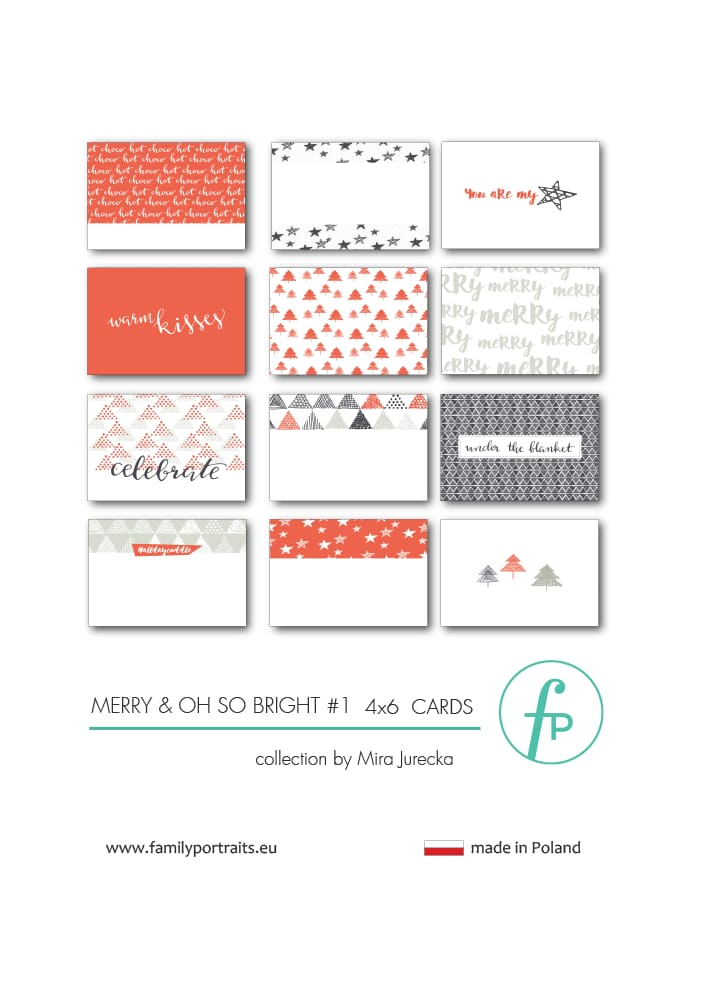 MERRY & OH SO BRIGHT PART 1 / 4X6 CARDS
