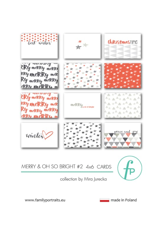 4X6 CARDS  / MERRY & OH SO BRIGHT part 2