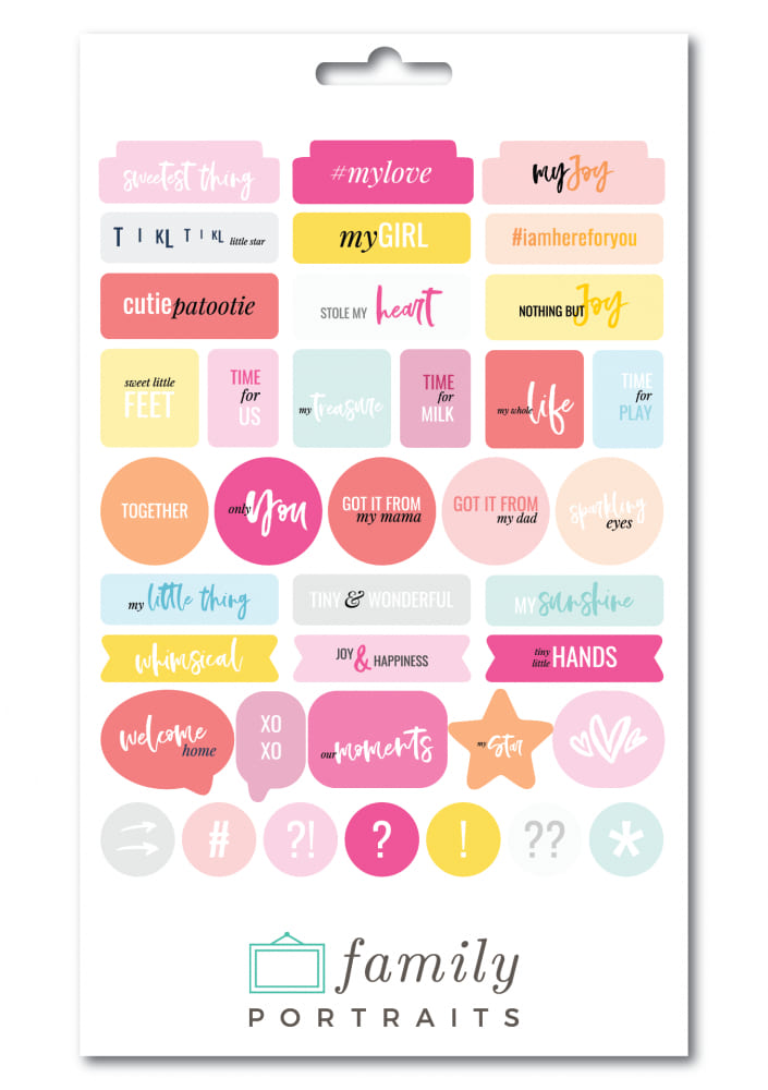 BABY GIRL EN / CHIPBOARD STICKERS