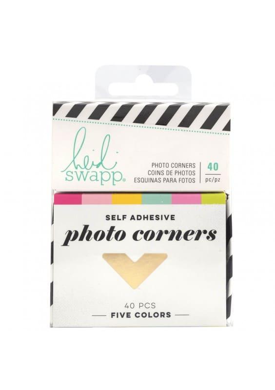 Embellishment - HS - Color Fresh - Photo Corners - Cardstock - Gold Foil (40 Piece)