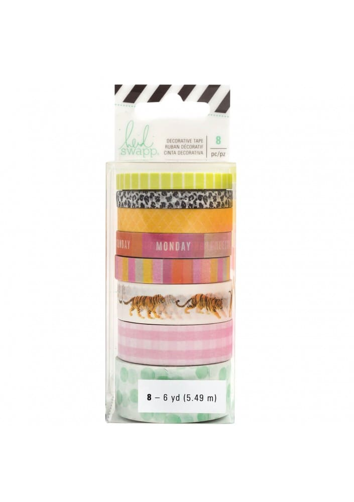 Embellishment - HS - Color Fresh - Washi Tape Set - 6 Yard Each (8 Piece)