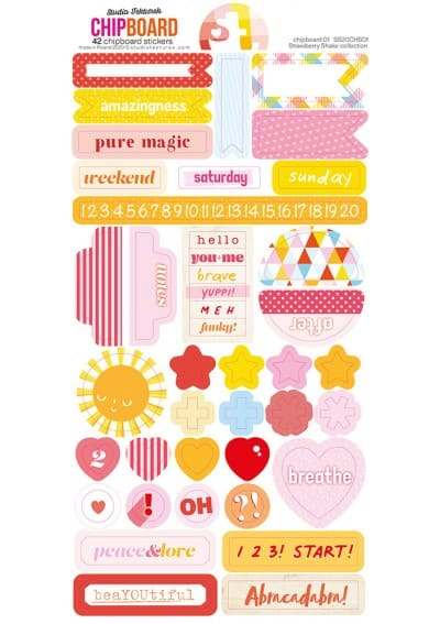 Strawberry Shake Stickerset 6x12